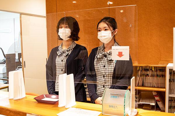 従業員のマスク着用を徹底